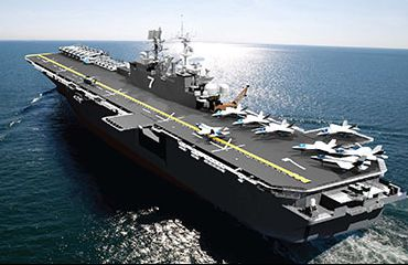 F 35b le portaerei dovranno essere modificate l 39 italia - Nuova portaerei ...
