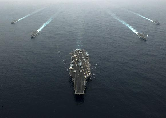 Navi militari americane verso la Corea del Nord